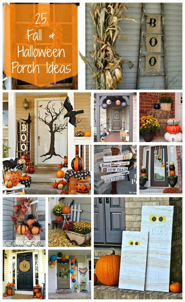 25 fall and halloween porch ideas | diy ideas in 2018 | pinterest