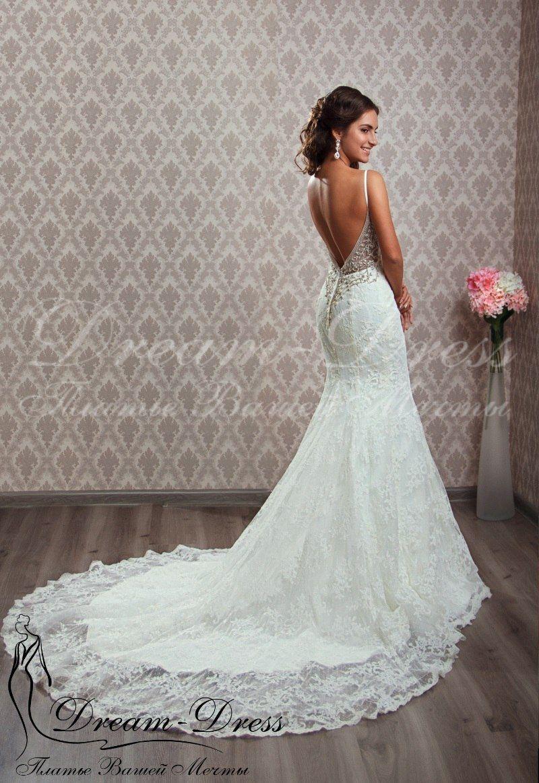 a839f95509f79e2 Mariella / Кружевное свадебное платье в стиле Рыбка (Русалка). В наличии  изделие в