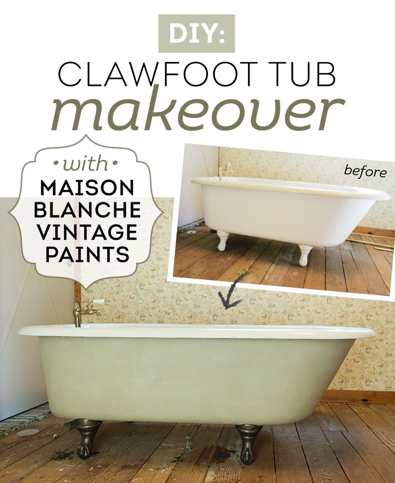Vintage Clawfoot Tub Makeover Tutorial With Maison Blanche With