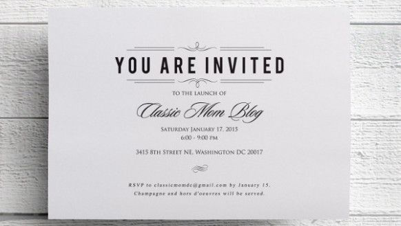 most recent no cost formal invitation event popular your