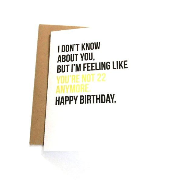 Funny Birthday Card Old Birthday Card 30th Birthday 40th Etsy Old Birthday Cards Funny Birthday Cards Birthday Cards