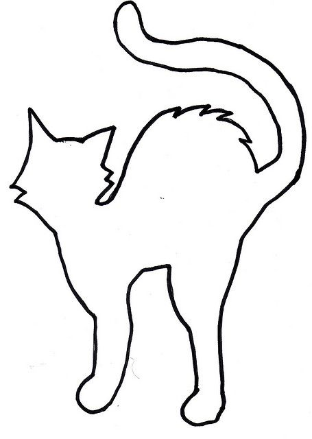 cat template - Halloween Art Templates