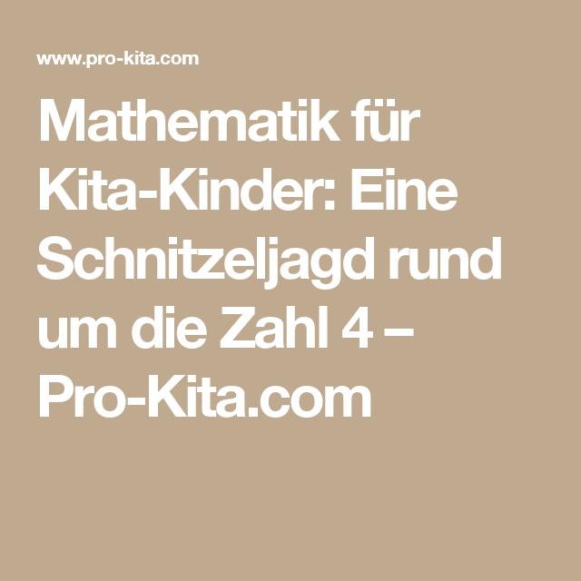 Mathematik fr KitaKinder Eine Schnitzeljagd rund um die Zahl 4