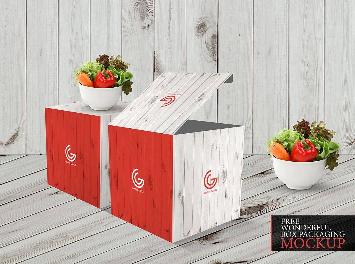 Free Wonderful Box Packaging Mockup Graphic Google Tasty Graphic Designs Collection Box Mockup Box Packaging Packaging Mockup
