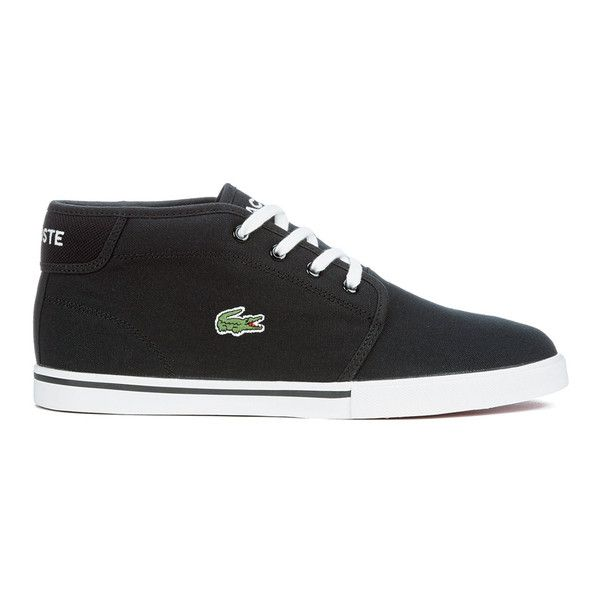 213bcca95b61 Lacoste Men s Ampthill LCR 2 Canvas Chukka Trainers - Black ( 90) ❤ liked  on Polyvore featuring men s fashion