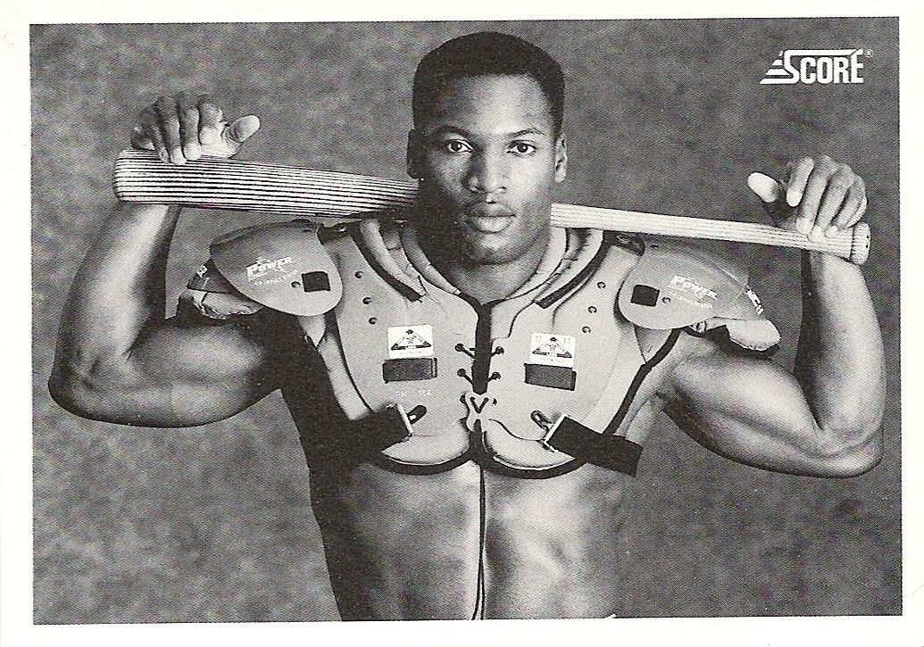 Bo Jackson Card Shoulder Pads Bat Probably The Most Iconic Photo
