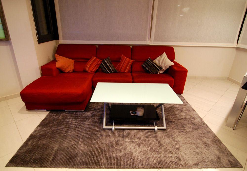 Ideas de #sala de la tv, salon, estilo #contemporaneo color #rojo ...