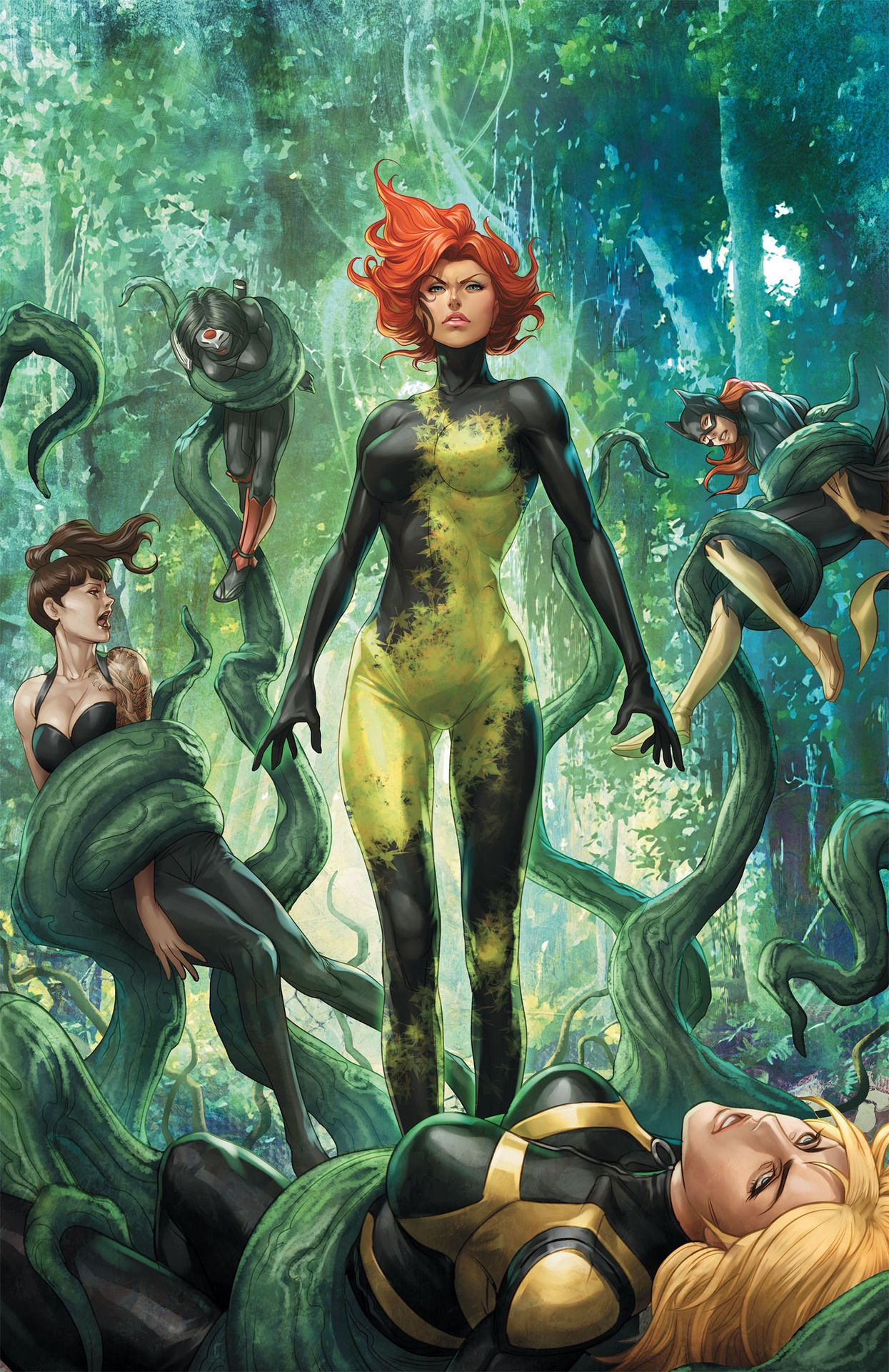 Dc Comics Superhero Artwork Poison Ivy Comics