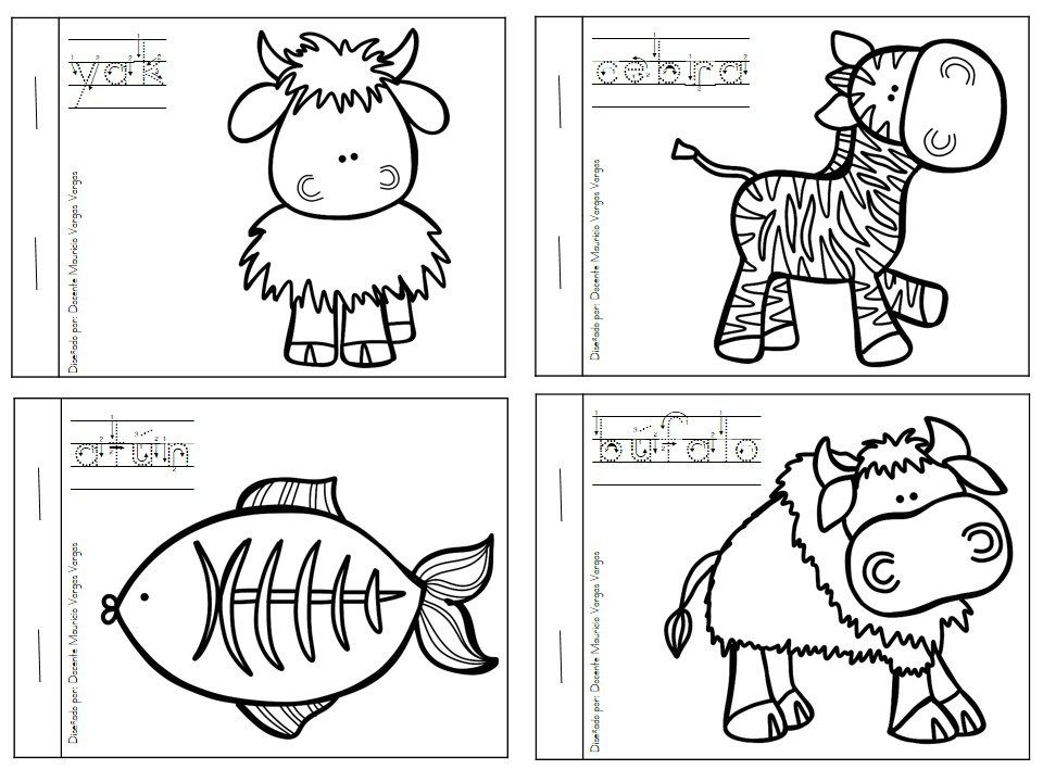 Dibujos A Color De Animales Salvajes: Mi Libro De Colorear De Animales Salvajes