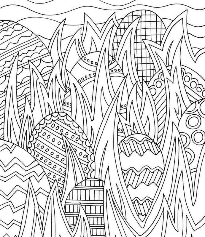 Dibujos para colorear para adultos Caza a los huevos   mandalas ...