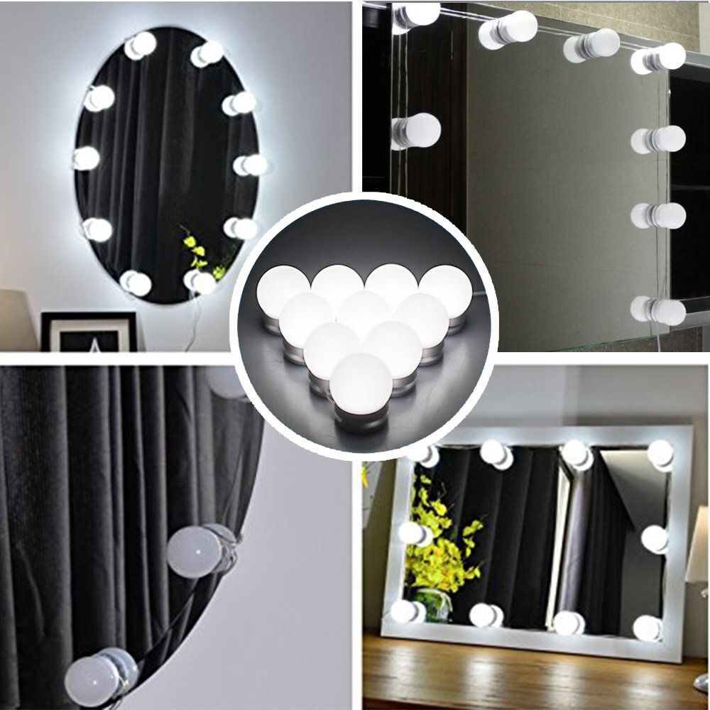 makeup mirror lighting fixtures. AMMON LED Vanity Mirror Lights Kit Hollywood Style For Makeup Dressing Table Set With Smart Touch Lighting Fixtures I