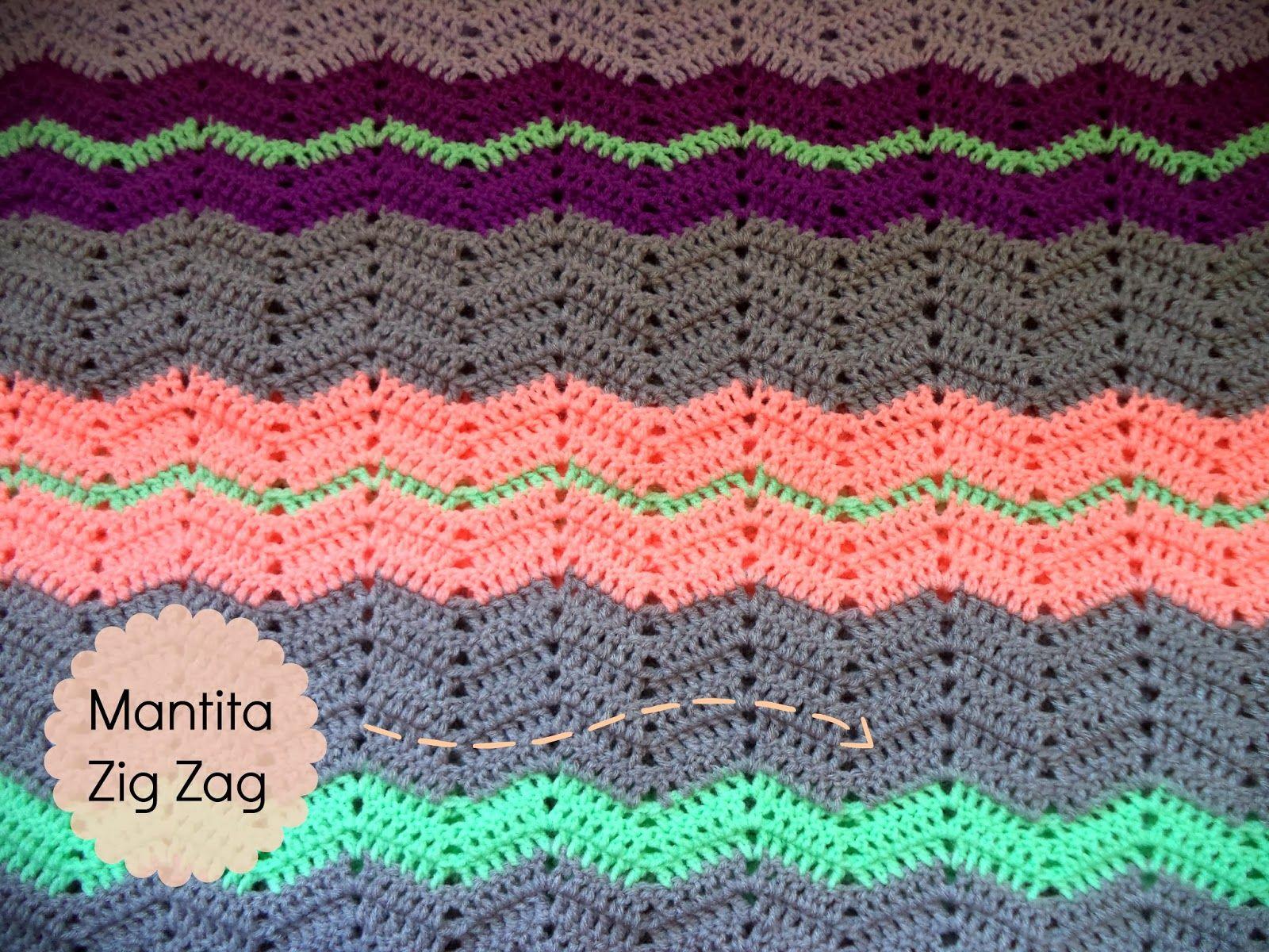 patrón manta zigzag | Trapillo y Crochet | Pinterest | Patrones ...