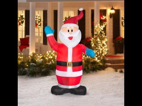 Brighten Up Your Yard With Santa Blow Ups \u2013 Christmas Decorating Fun - christmas blow up decorations