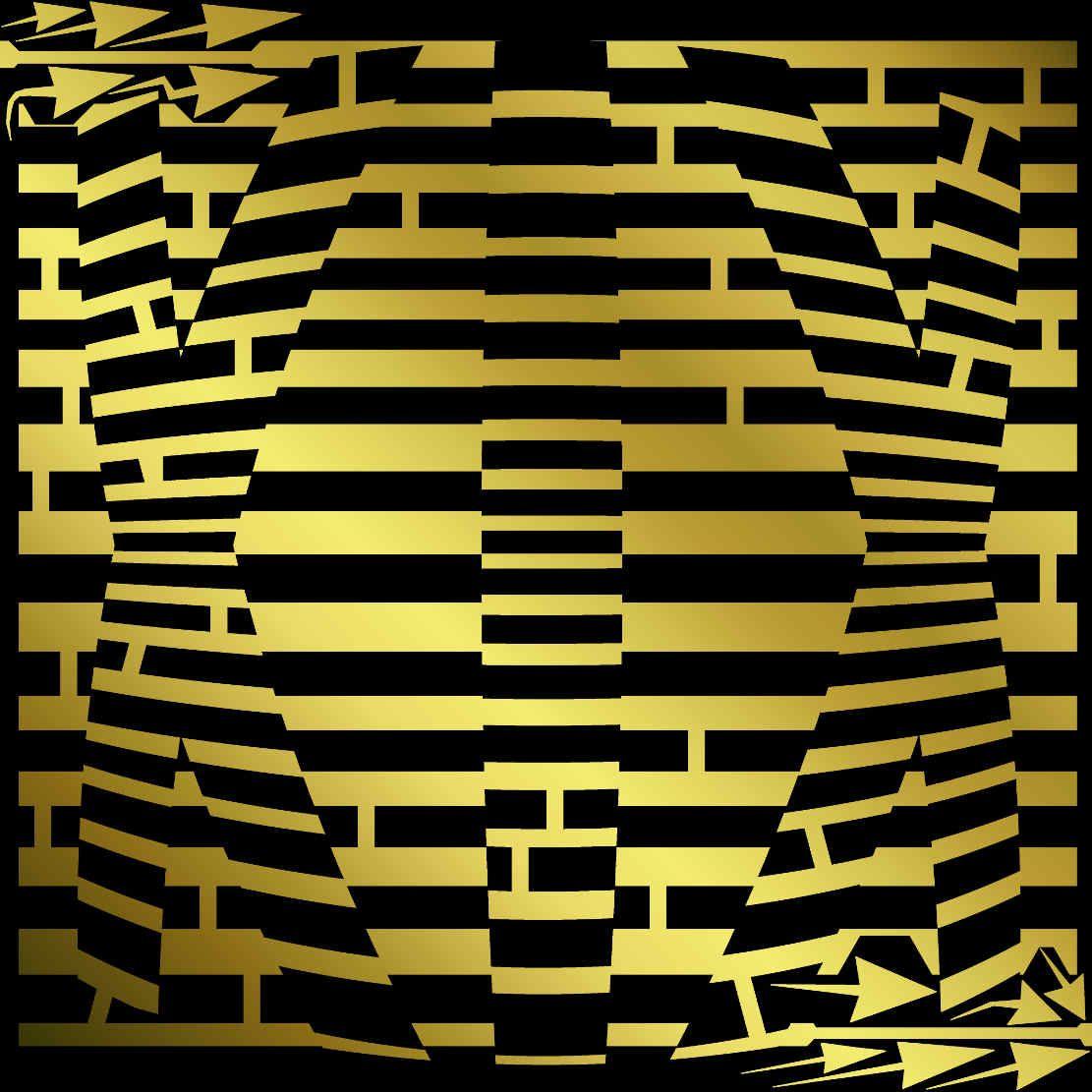 Golden version of the NINETEEN maze - XIX is 19 in roman ...
