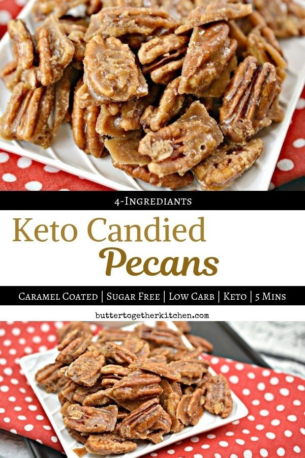 These Keto Candied Pecans are the perfect mix of sweet and