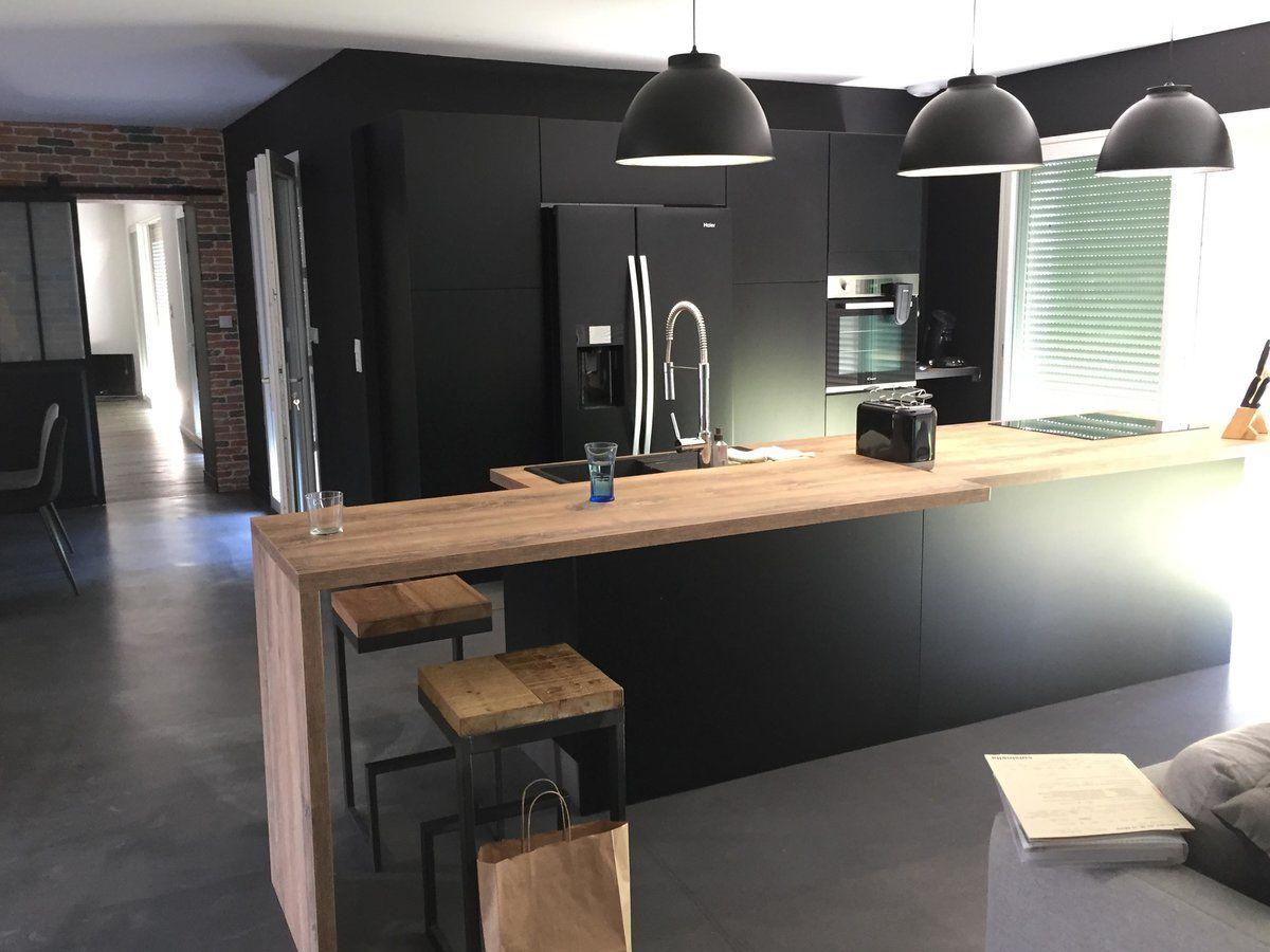 Rénovation cuisine équipée sur mesure Velvet Noir Soft  Cuisine