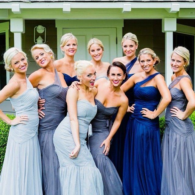 Blush Grey Dresses From Bella Bridesmaid Monique Lhullier