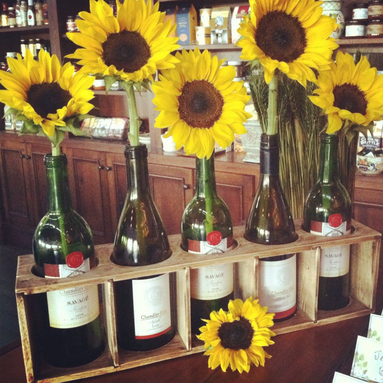 Wedding decorations with wine bottles  Celeste and Pearl I A Lifestyle Blog Rustic Winery PreWedding