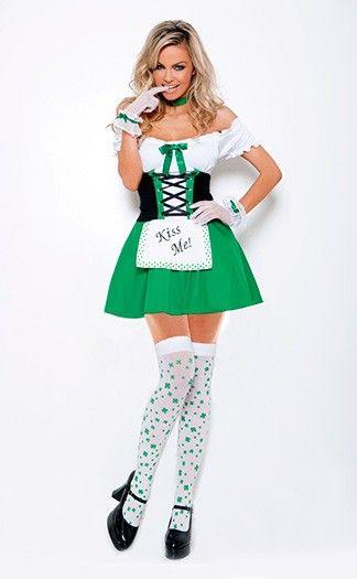 Kiss Me Cutie Halloween Costume Halloween Costumes Pinterest - green dress halloween costume ideas
