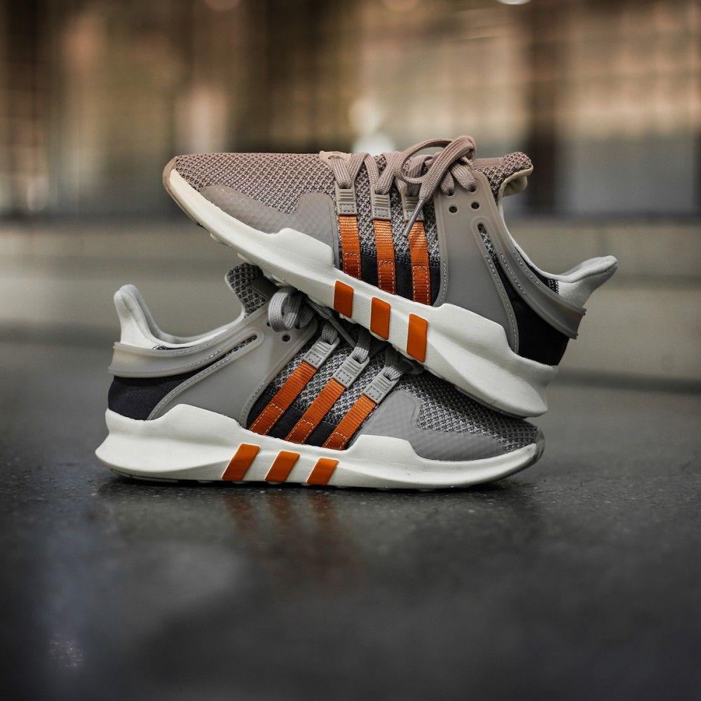 Adidas W Originals EQT Equipment Support ADV Grey / Orange Via The ...