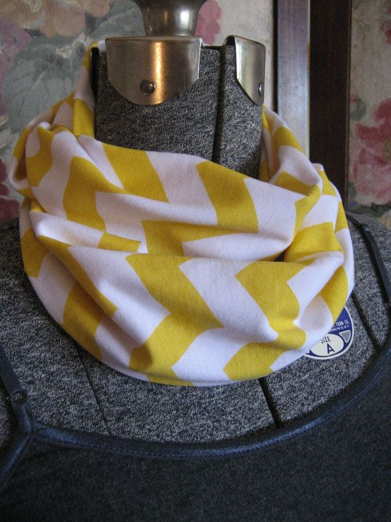Baby Yellow Chevron Infinity Scarf Toddler Kids Childs
