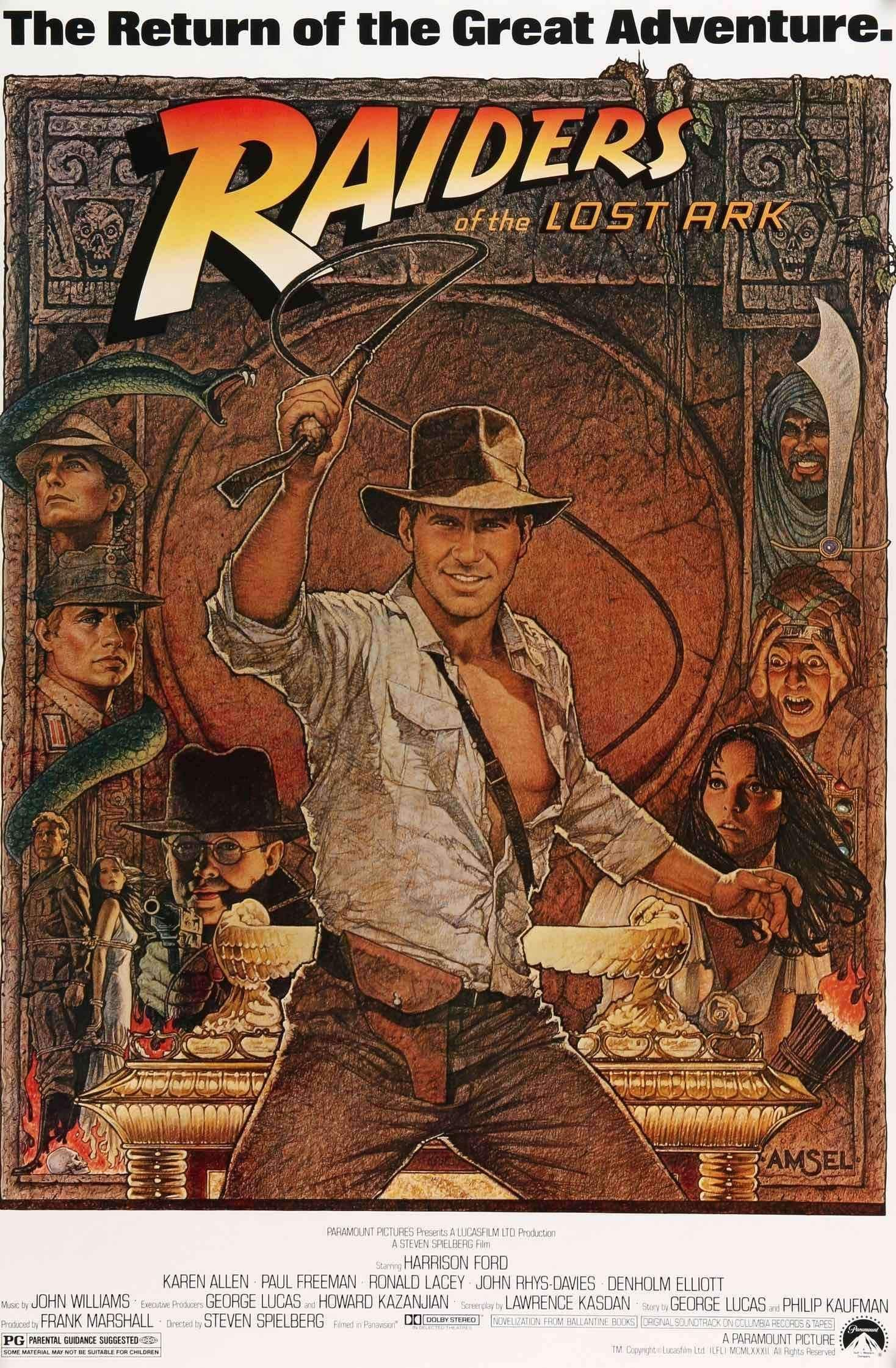 Harrison Ford movie poster print 4 1981 Raiders of the Lost Ark