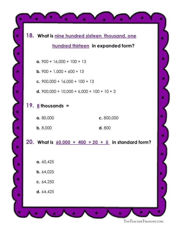 expanded form 64  Reading and Writing Numbers in Expanded Form, Standard Form ...
