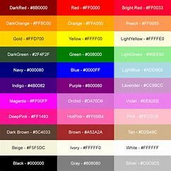 Girly Color Codes - Bing images | Girly business cards ...