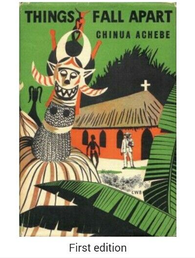 Things Fall Apart is an English-language novel byNigerian author Chinua Achebe published in 1958 byWilliam Heinemann Ltd in the UK; in 1962, it was also the first work published in Heinemann's African Writers Series. Things Fall Apart is seen as the archetypal modern African novel in English, one of the first to receive global critical acclaim. It is a staple book in schools throughout Africa and is widely read and studied in English-speaking countries around the world.