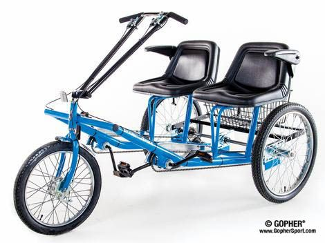 Two-seated side-by-side tricycle