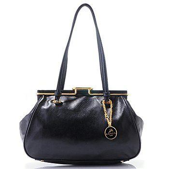 Koret Luxe Snap It Up Leather Handbag