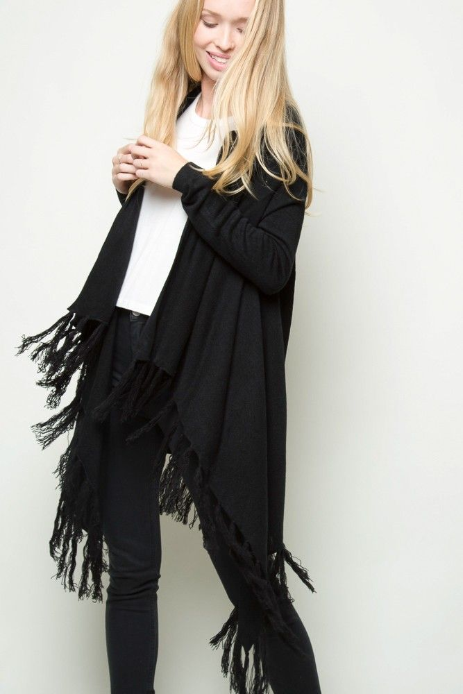 Brandy ♥ Melville | Milena Fringe Cardigan - Clothing
