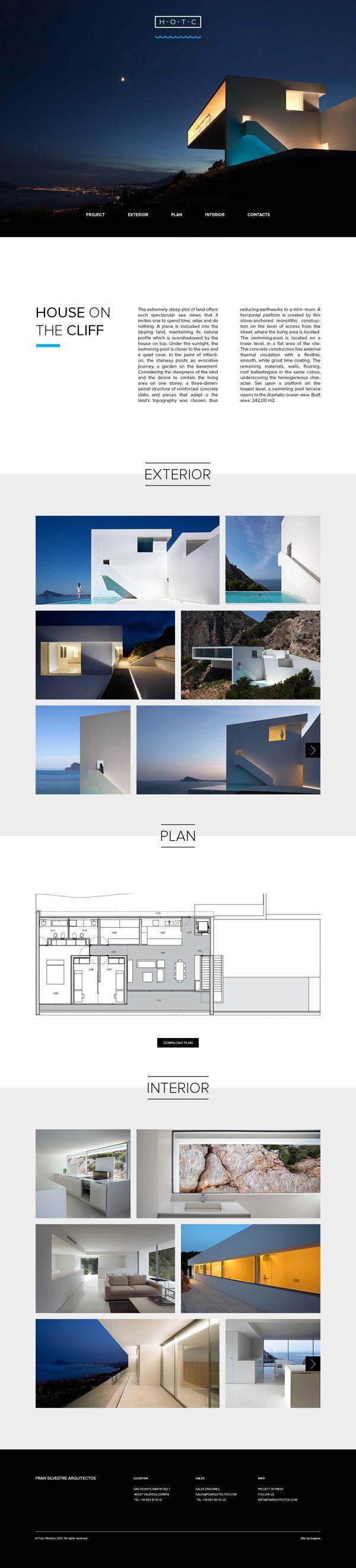 Website design for architecture project by Eugene Maksymchuk, via Behance