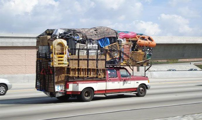 Image Result For Overloaded Moving Van With Images Moving Van
