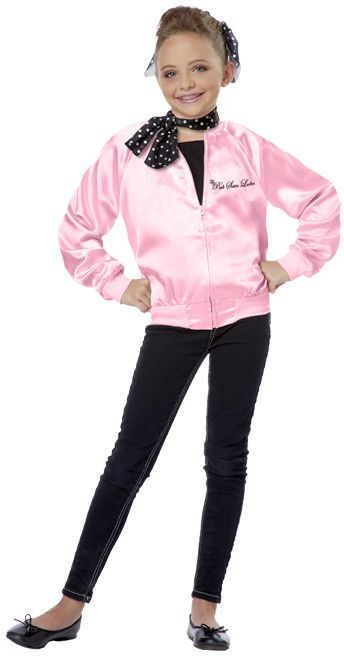 Pink Ladies Satin Kids Costume 50s Costumes Halloween Costumes