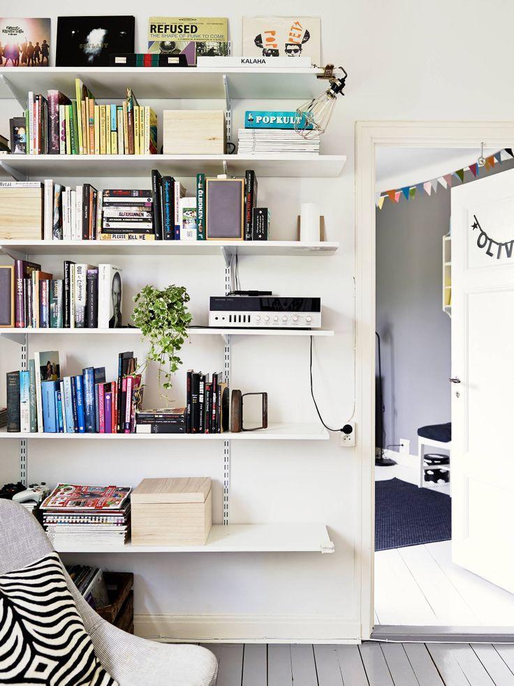 Adjustable Bracket Shelves In Living Room