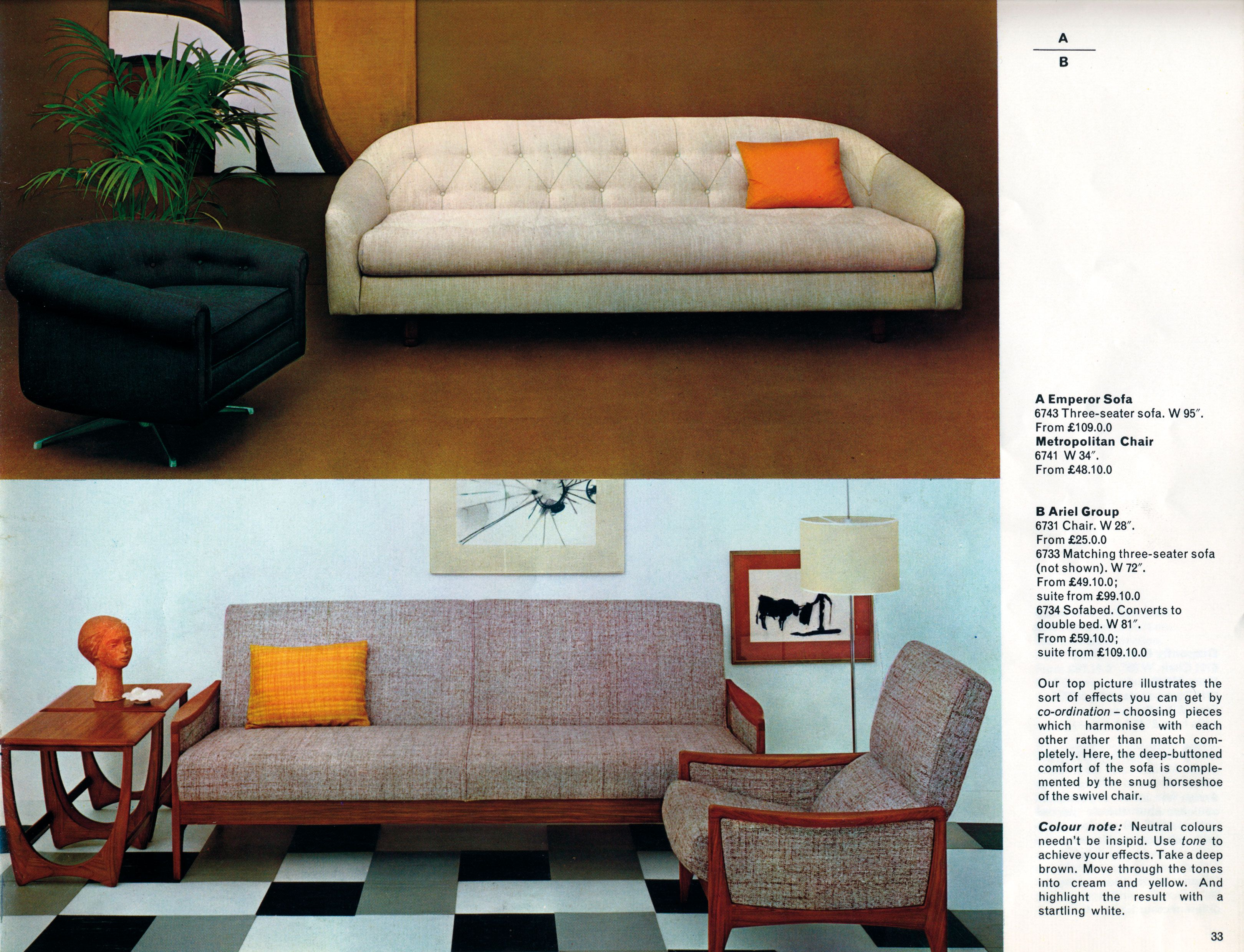 Original G Plan Designs From The Mid Century The Metropolitan Chair Top Left And The Emperor Sofa Top Right Which Inspir Home Furniture Vintage Interiors