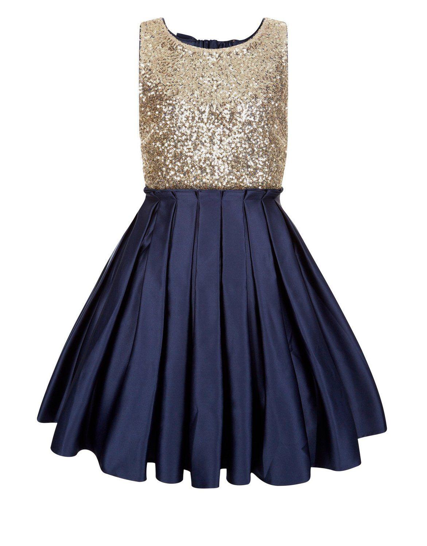 Amazon princhar sequin satin short girl dress little girls