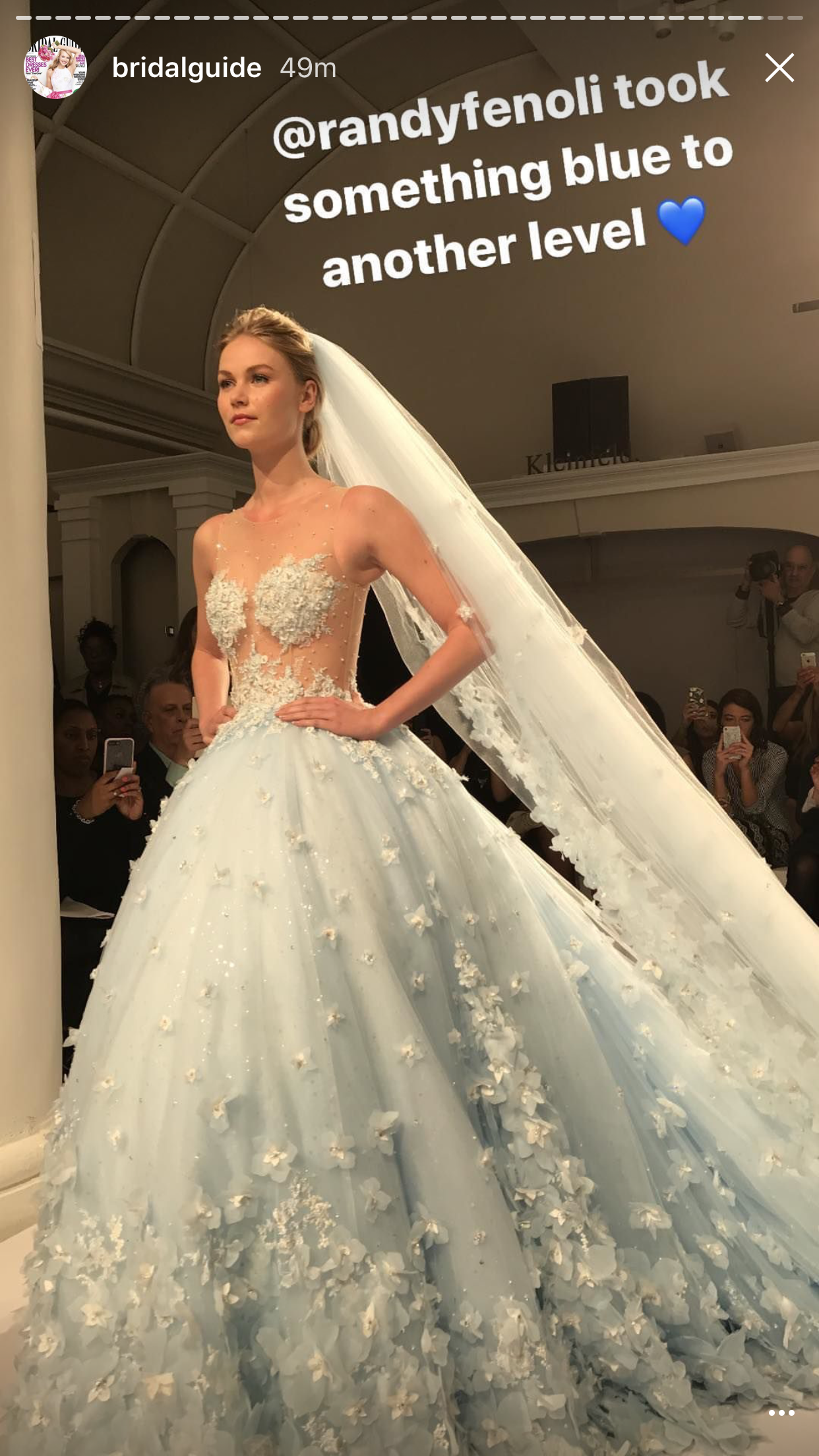 Something blue wedding dress by Randy Fenoli