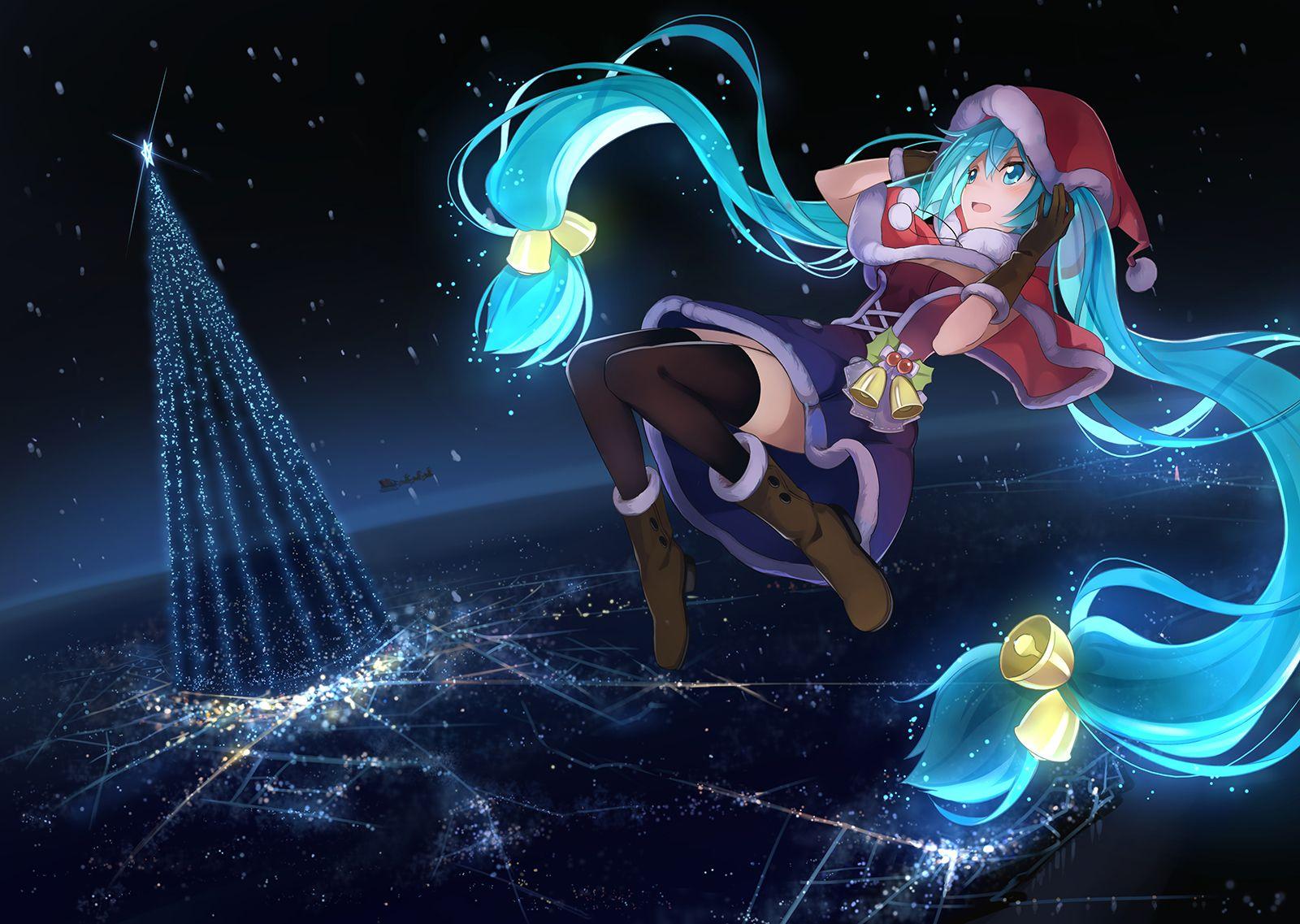 Hatsune Miku Christmas Outfit.Beek Vocaloid Hatsune Miku Christmas Outfit Black