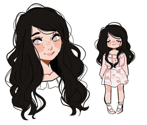 Katnikki S Commission By Honeyedmoon Cartoon Drawings Little Girl Drawing Cartoon Sketches