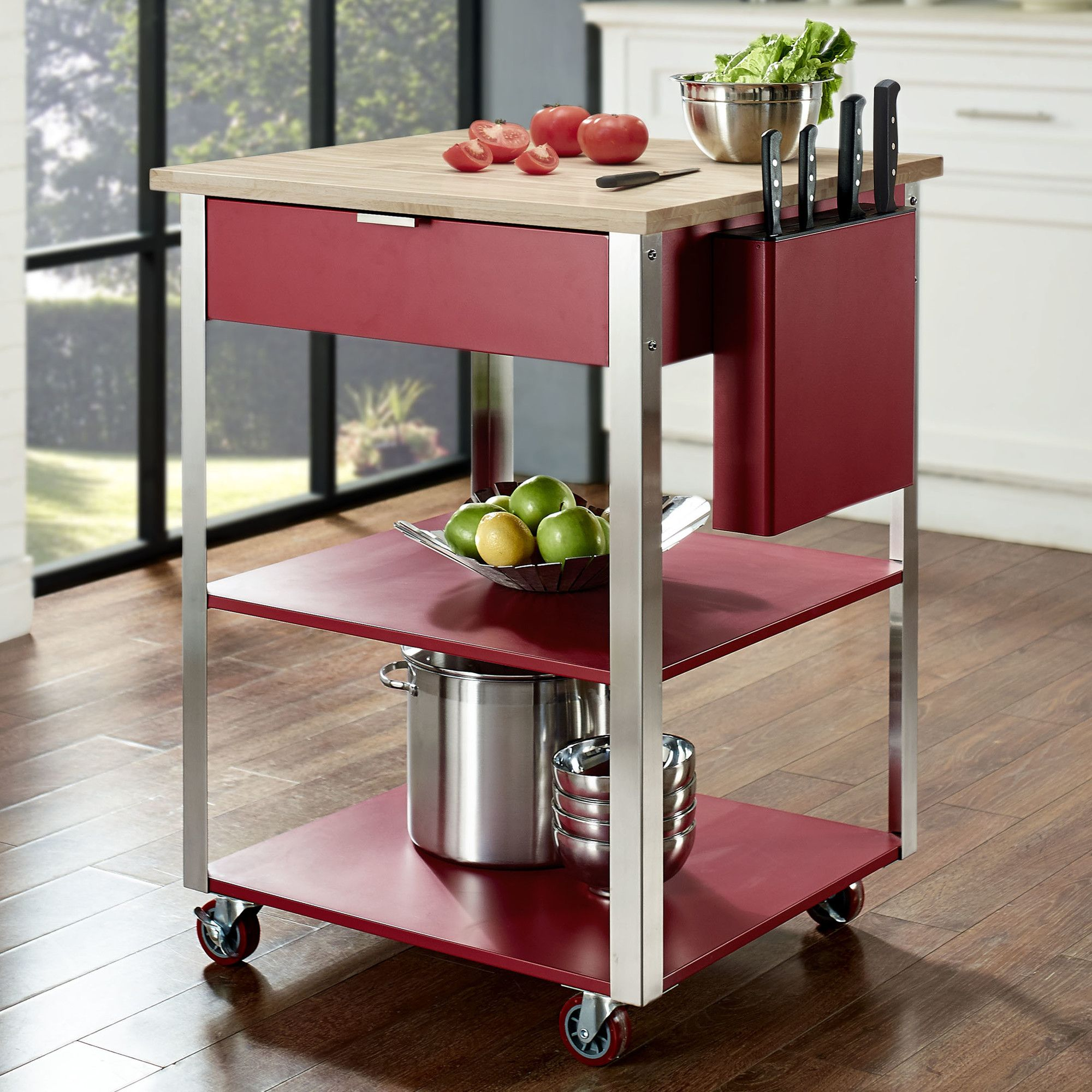 Kitchen cart with butcher block top ward residence pinterest