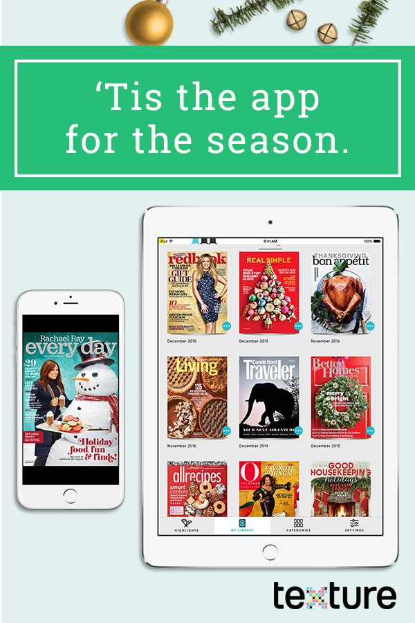 Tis the app for the season. Texture gives you unlimited