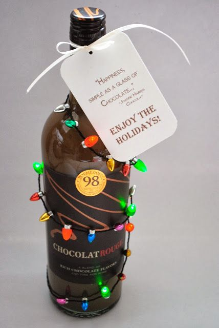 Wine Christmas Packaging.Happiness For The Holidays Chocolate Wine And Festive