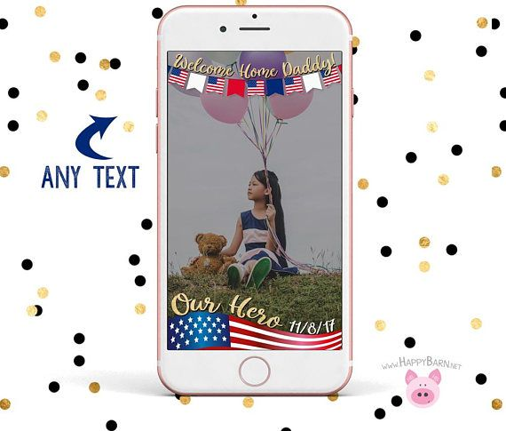 Snapchat GeoFilter, American Flag Snapchat Filter, Patriotic