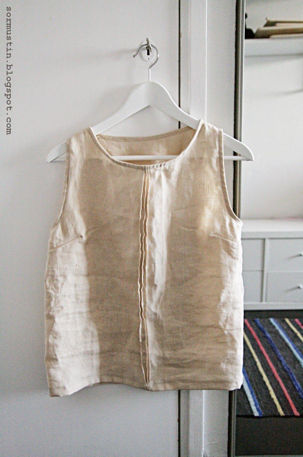 Kesänodotuspaita pellavasta. Summer shirt made of linen.