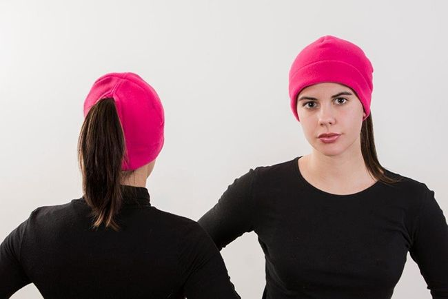 Hot Pink Ponytail Hat - Order today by visiting: http://www.doohat.com