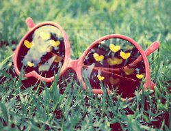 sunglasses, hearts, spring