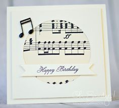 Image result for birthday card for a musician val2 pinterest musical happy birthday by gimmeink cards and paper crafts at splitcoaststampers bookmarktalkfo Images