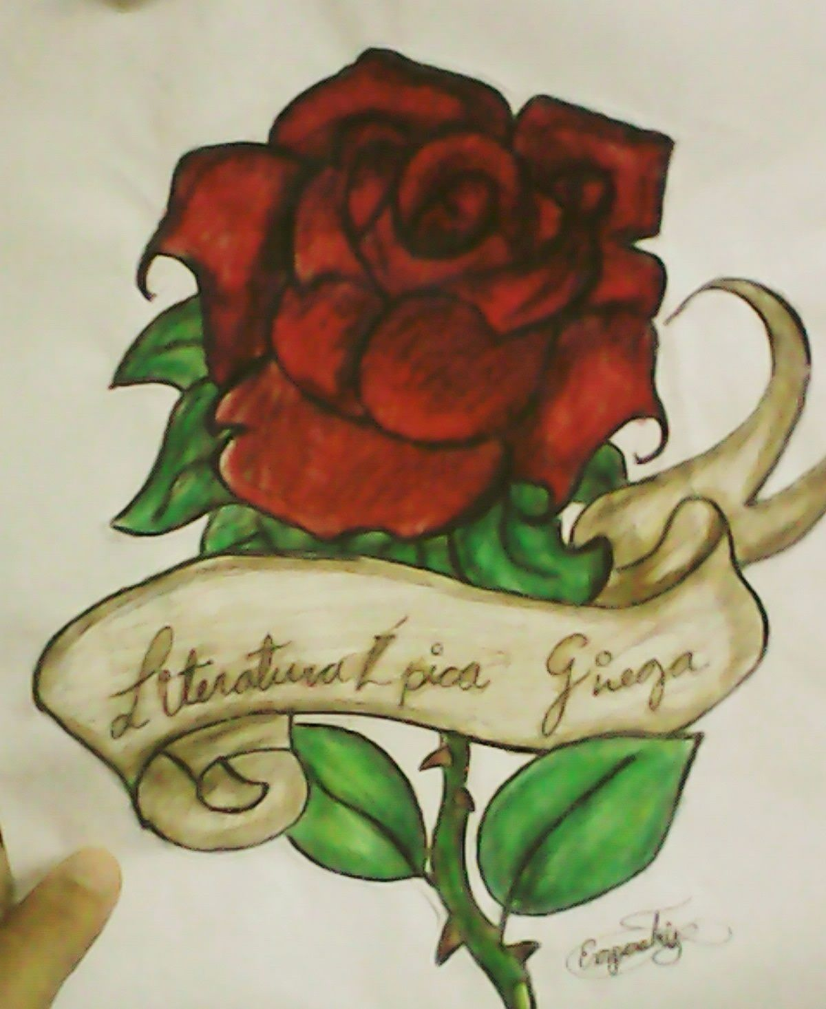 Rosa Dibujo A Color Dibujos